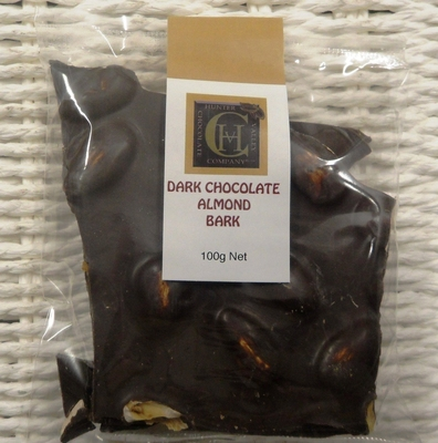 Almond Bark - Dark - 100g Bag