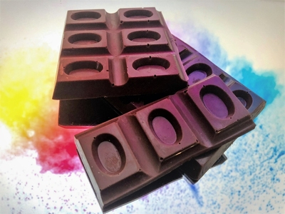 Dark Block Infused With Raspberry